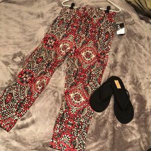 Summer casual pants- multicolor print